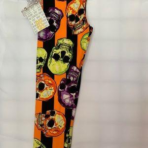 Halloween Skull OS leggings